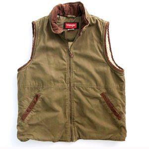 Wrangler Sherpa lined vest